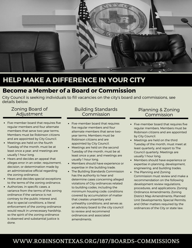 board and commissions flyer