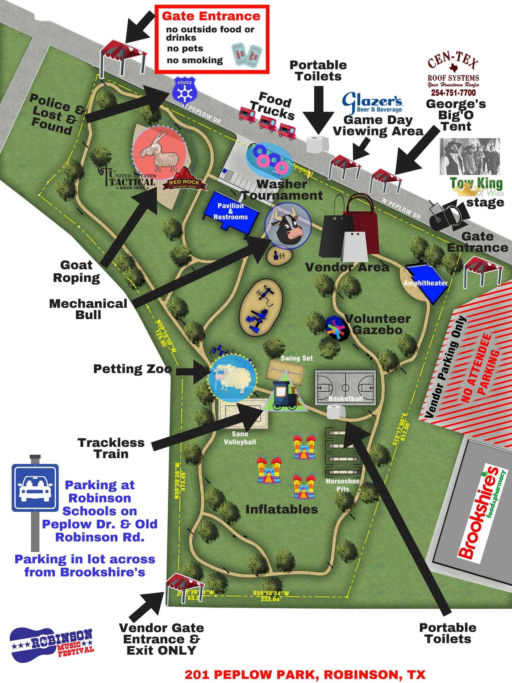 Robinson Music Festival Site Map 2017
