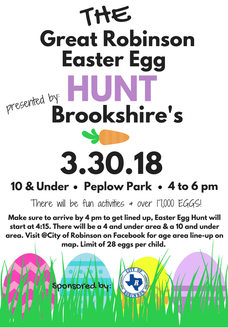 the Great Easter Egg Hunt - 2018