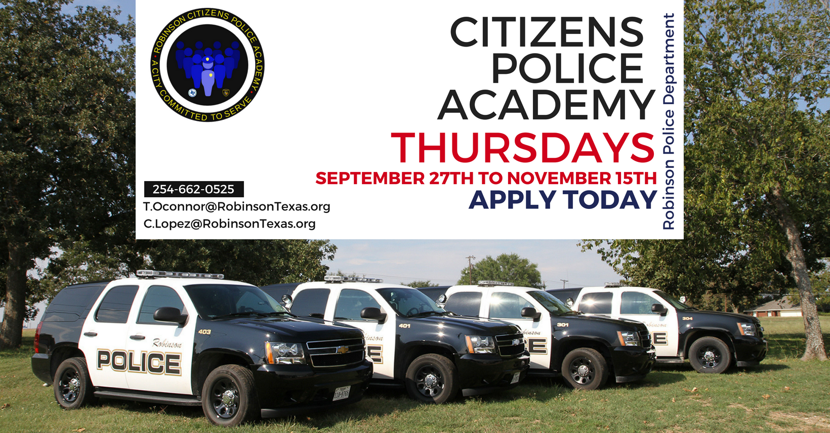 Citizens Police Academy Website Banner Fall 2018