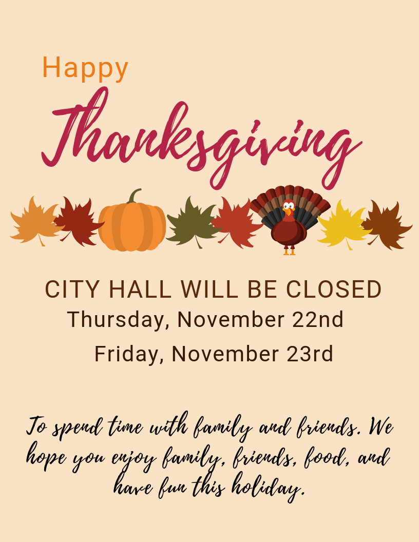 Closed for Thanksgiving 2018