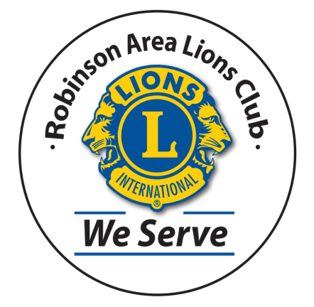 Robinson Lions Club Seal; Lions International; We Serve