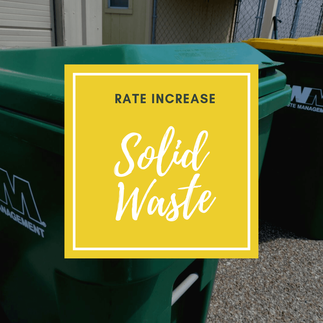 Solid Waste Rate Increase