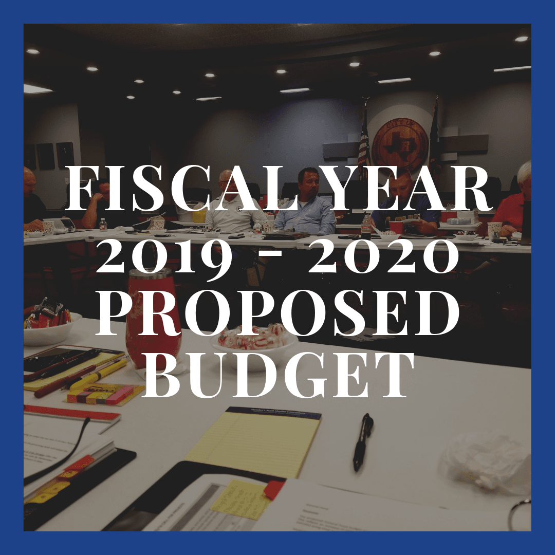 Fiscal Year 2019 - 2020 Proposed Budget