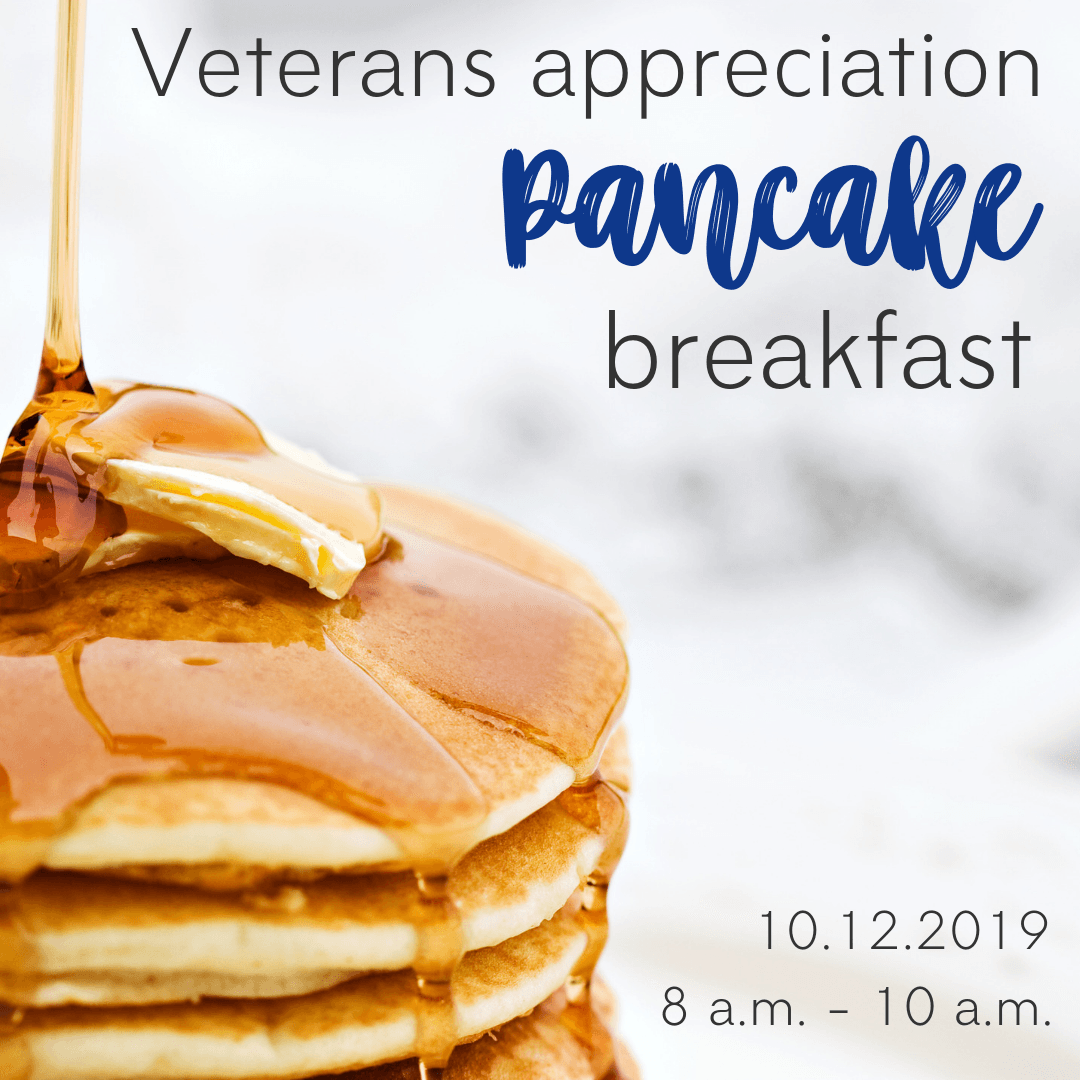 Robinson Lions Club Veterans Appreciation Pancake Breakfast; October 12, 2019 8 am - 10 am