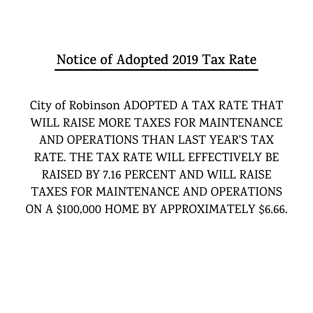 2019-2020 Notice of Tax Rate