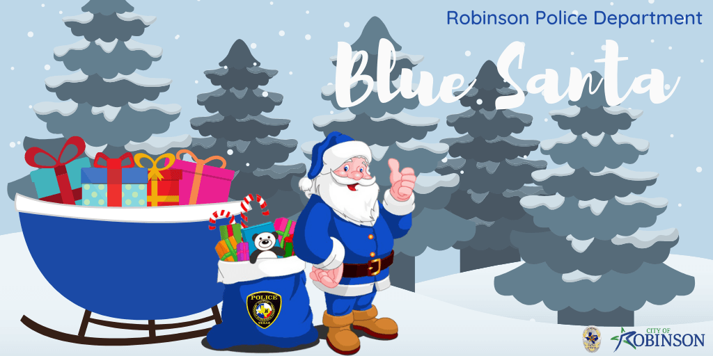 Robinson Police Department Blue Santa