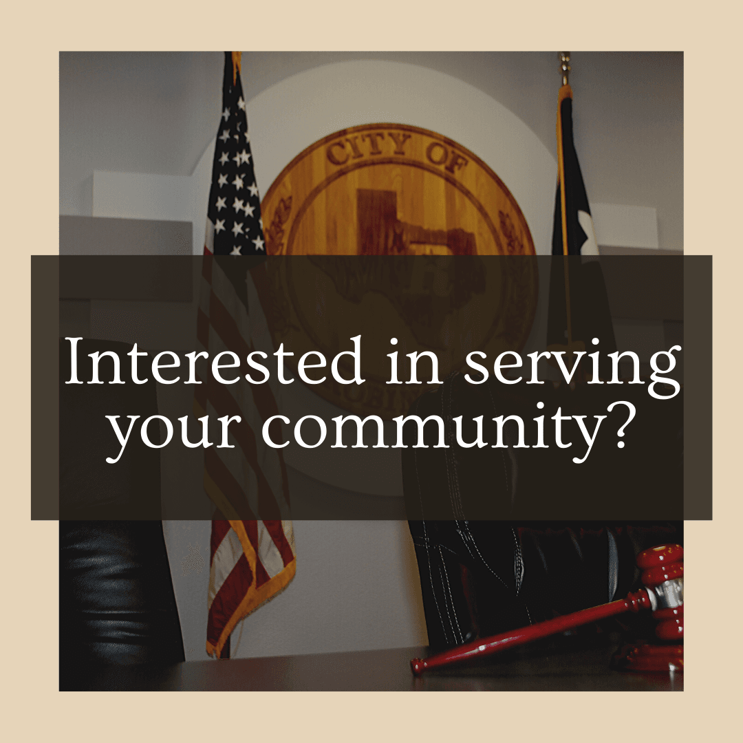 Interested In Serving Your Community