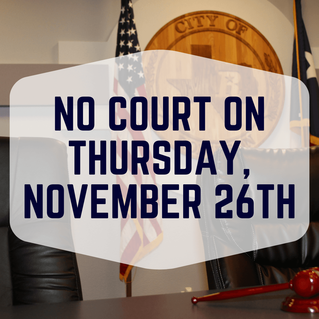 No Court - Thursday, November 26th