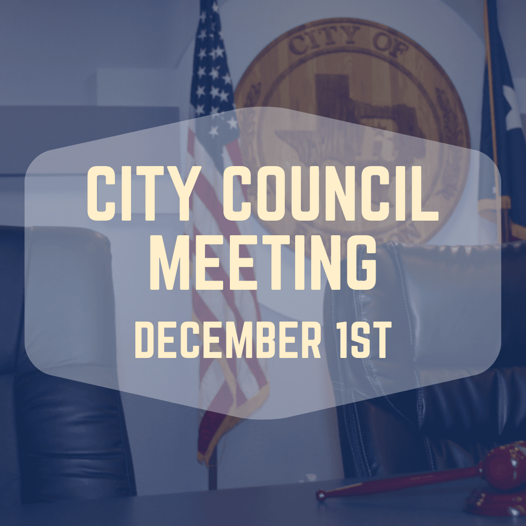City Council Meeting December 1st
