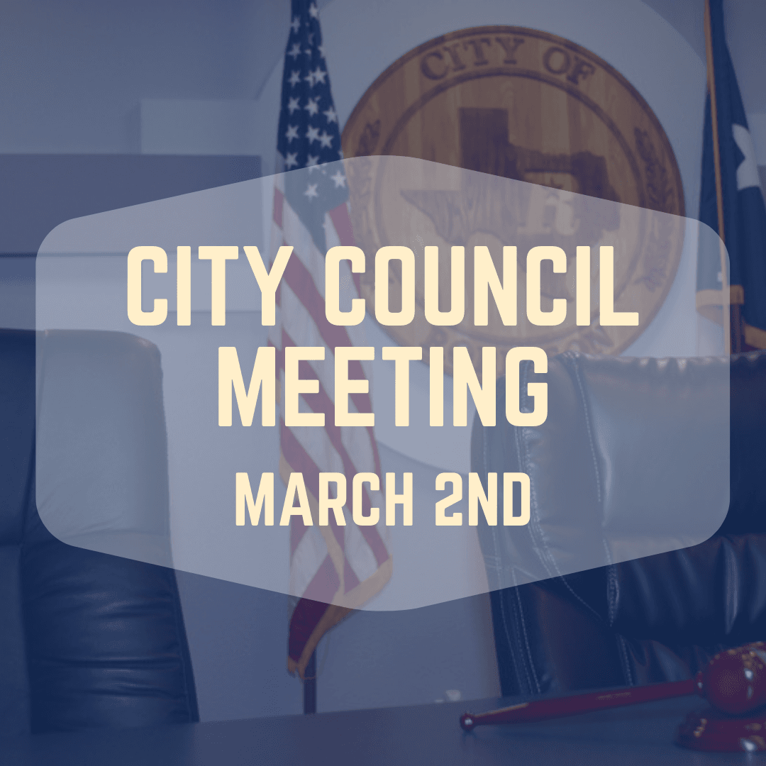 City Council Meeting March 2nd