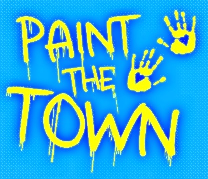 Paint The Town Logo Blue