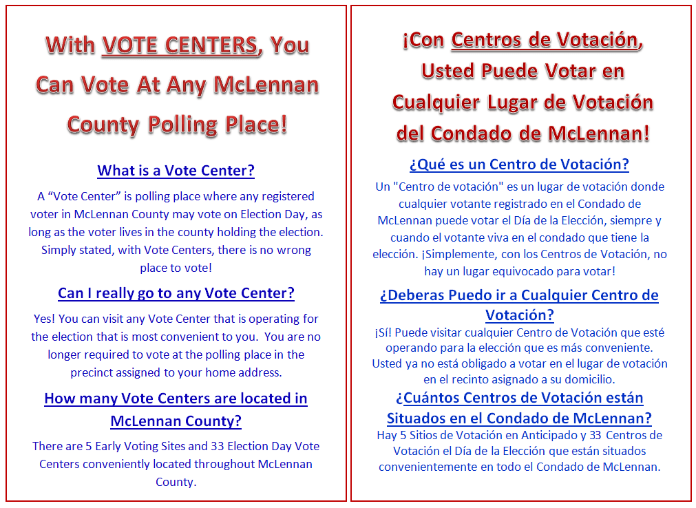 Vote Centers Opens in new window