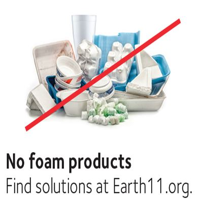 No foam products - Find solutions at Earth11.org